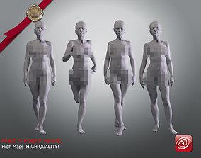Woman A Testing model - Marvelous Designer Posed 3D asset