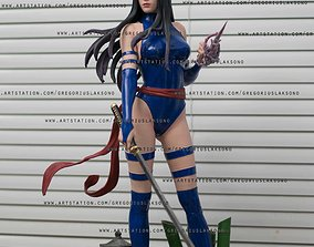 Psylocke Fan Art Statue 3d Printable