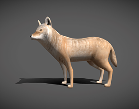 Low poly Coyote - Idle Animated 3D model