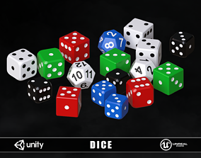 3D asset Playing Dice