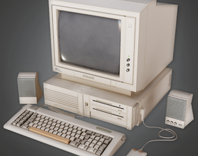 CLA - Retro Computer - PBR Game Ready 3D asset