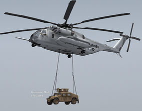 CH-53 Super Stallion Military Helicopter 3D