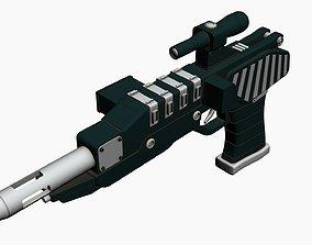 Blaster pistol 3D model