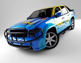 3D asset Car Rock Pickup