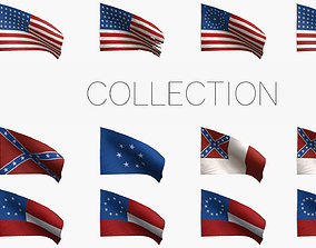 American Civil War Flags 3D PBR