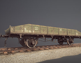 Armored Train JDP20T railway platform 3D asset