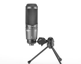 3D model Audio-Technica AT2020USB Plus Microphone with 4