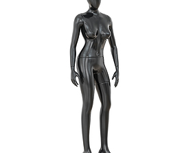 Abstract female mannequin 01 3D