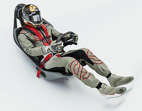High Quality Race Driver Suit 3D model