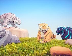 3D model Poly Art Tiger
