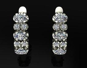 diamond earrings tria 3D print model