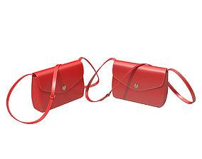 Red handbag 3D