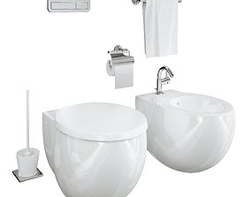 3D model Villeroy and Boch aveo toilet and bidet