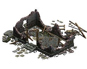 Buildings - ruins 002 3D
