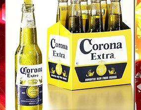 Corona Beer Bottle - 6 Pack 3D