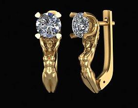 3D print model Earring Sportswoman and Diamond