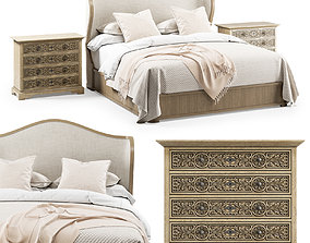 Hooker Furniture California King Bed Floresville 3D 1