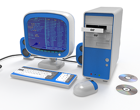 pc set Cartoon Computer 3D