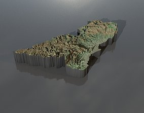 Heightmaps and geometry for Central African 3D model