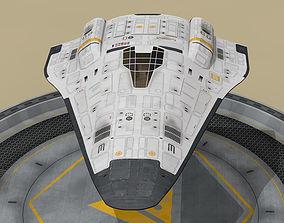 shuttle sci-fi 3D model