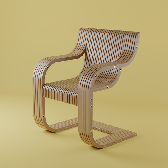 Wooden Plank Chair
