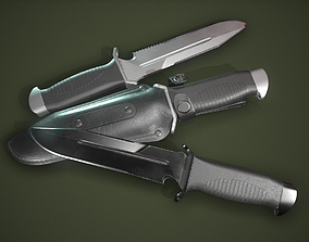 3D asset Tourist knife and holster