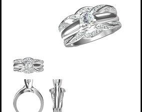 3D print model Wedding band rings for women autodesk 1