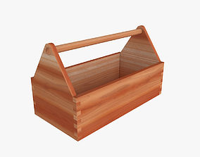 Wooden Toolbox 3D model storage
