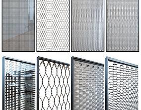 Perforated metal gate 3D model
