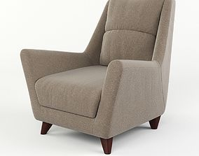 3D model Chair with soft back