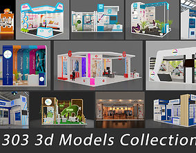 Exhibition stall collection 303 Models Collection 3D