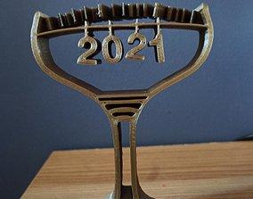 Happy New Year 3D printable model