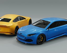 3D model PBR Generic Electric Sports Car Pack