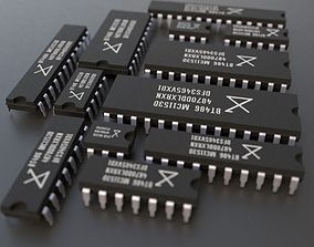 Integrated circuits pack 3D model