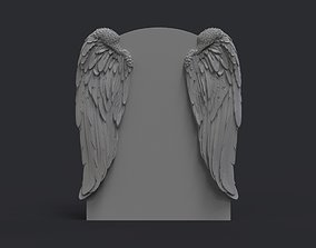3D print model Angel wings headstone