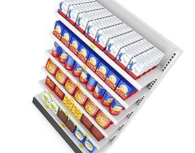 Supermarket Shelf fbx 3D model