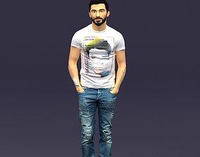 3D printable model Beard man 0421