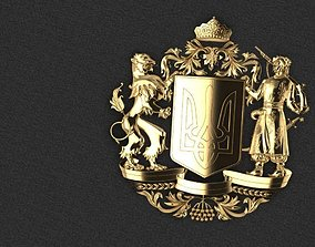 emblem of Ukraine coat of arms 3D printable model