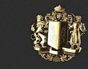 emblem of Ukraine coat of arms 3D printable model