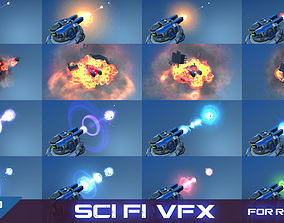 VFX For Sci-Fi RTS v1 3D asset game-ready