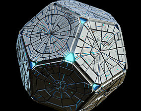 Geometrical Spacecraft Hedra Sphere Round 3D model 2