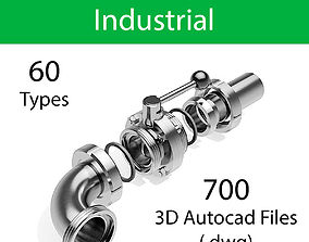 DIN FOOD AND PHARMA - VALVES AND FITTINGS - 3D model 1