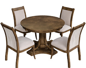 Masa Gaia Wood Dining Table 3d model game-ready