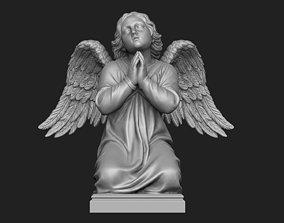 3D printable model Kneeling Angel Statue