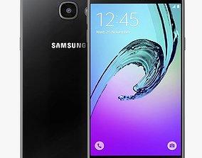 Samsung Galaxy A5 2016 Black 3D model andriod