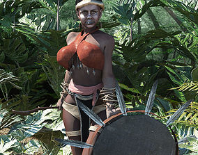 Shaman West Africa rigged 3D