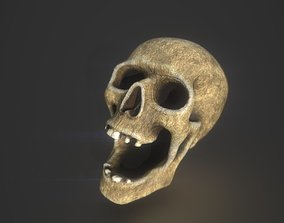 Skull Low poly 3D asset game-ready