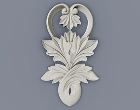 3D print model Baroque cartouches element 011 FLOWER