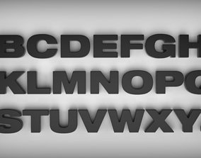 Letters Helvetica bold for 3D Printing