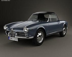3D model Alfa Romeo Giulietta Spider 1955